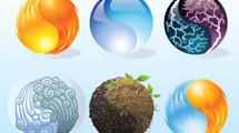 Iconos de elementos naturales