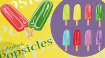 Iconos de helados en colores