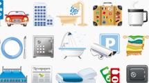 Iconos de hotelería completos