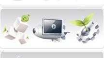 Iconos de Internet en 3D