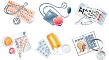 Iconos de medicina: Tres paquetes variados