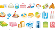 Iconos de mercado variados
