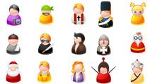 Iconos de personas simples