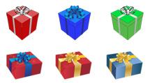 Iconos de regalos variados