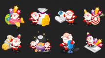Iconos de Santa Claus