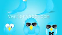 Iconos de Twitter con lentes de sol