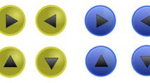 Iconos esféricos con flechas