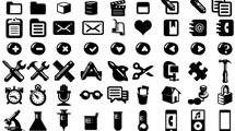 Iconos minimalistas en negro con bordes redondeados