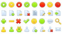 Iconos para sitios web de formas simples