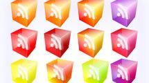 Iconos RSS en 3D