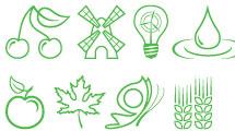 Iconos sobre la naturaleza