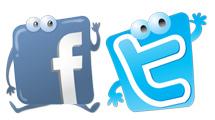 Iconos sociales con rostros simpáticos