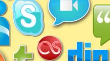 Iconos sociales estilo sticker