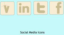 Iconos sociales simples