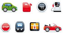 Iconos variados con bordes redondos