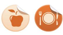 Iconos vectoriales: comidas
