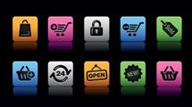 Iconos Web: Cuadros a puro color