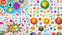 Iconos y formas divertidas