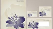 Identidad Corporativa: Flores violetas