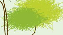 Ilustración abstracta con árboles