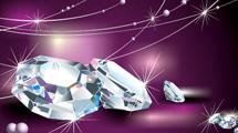 Ilustración con diamantes
