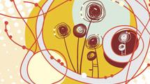 Ilustración con flores abstractas
