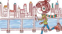 Ilustraciones con joven estilo sketchy