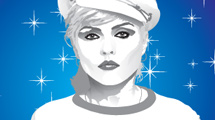 Imagen vectorial de Blondie en blanco y negro