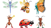 Insectos cartoon