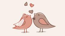 Invitación a boda con aves