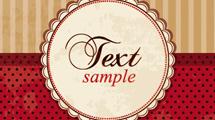 Invitación vintage en rojo y crema con estiqueta