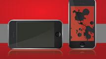 iPhone con wallpaper