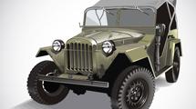 Jeep clásico verde