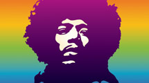 Jimi Hendrix: Silueta de rostro
