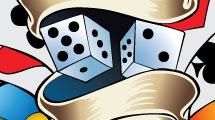 Juego de dados y cartas