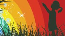 La nena y el arcoiris