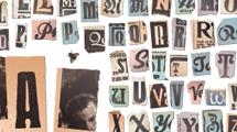 Letras recortadas para diseños grunge