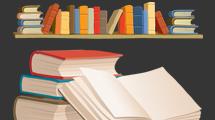 Libros y estantes