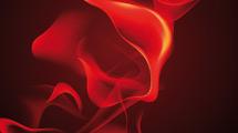 Llama abstracta en rojo