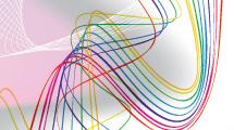 Líneas de colores en arco iris