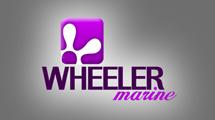 Logo abstracto con forma violeta