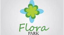 Logo con flor verde