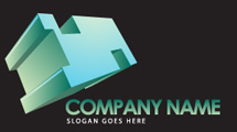 Logo con forma 3D