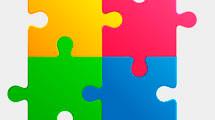 Logo con piezas de puzzle