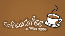 Logo de cafetería con taza