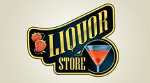 Logo de licorería con frutillas