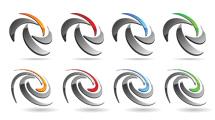Logos 3D con gris
