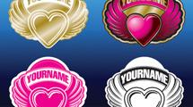 Logos con corazones