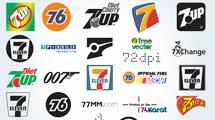 Logos con el numero 7 variados