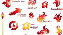 Logos con fuego